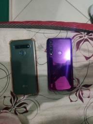 Celular LG k41s mais Motorola em perfeito estado todos dois fucionando