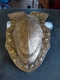 Título do anúncio: Carapaça Medieval Antiga em Bronze