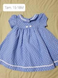 Vestido  menina azul