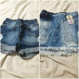 Título do anúncio: Saia ou shorts jeans menina infantil