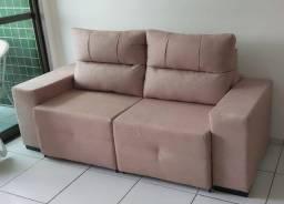 Estofado (sofá) retrátil e reclinável com 2 m de largura (novíssimo)