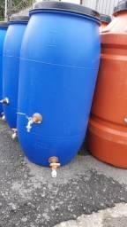 JR Tambores - Cisterna 150 Litros Registro VAP e Torneira Metal