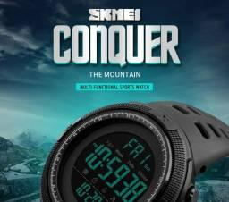 Relógio Esportivo Skmei Digital masculino à prova d'água cronometro luz led