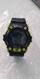 Relógio Digital Sport Verde limão Novo