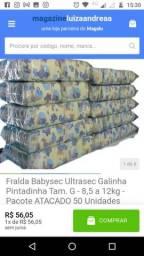 Título do anúncio: Fralda Babysec Ultrasec Galinha Pintadinha  Pacote ATACADO 50 Unidades