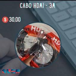 Cabo HDMI 3 Metros- PROMOÇÃO IMPERDÍVEL!!!!