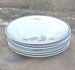 Oferta relâmpago!!!6 pratos de porcelana schmidt antigos 25cm
