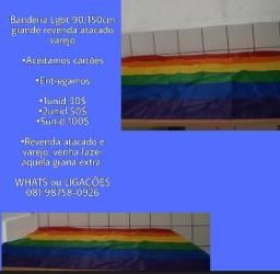 bandeira grande poliester gay lgbt 5unid
