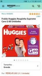 Fralda Huggies roupinha G