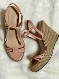 Sandália anabela rose