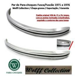 Título do anúncio: Chapa Grossa - Parachoques Fusca Fuscão - Largos - 70/71 até 76 - Wolff Collection