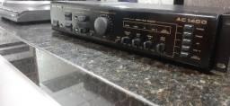 Novíssimo Amplificador/Mix Unic AC1400 com Entrada para Toca Disco