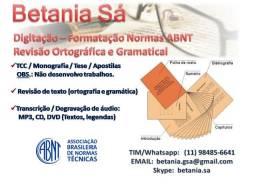 Digitação, Revisão Ortográfica e Gramatical e Formatação Normas ABNT