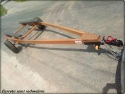 Carreta semi rodoviária para barco
