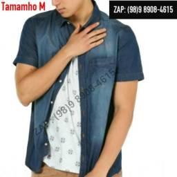 Camisa jeans Masculina Metade do Preço