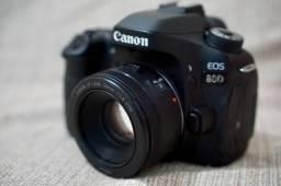 Usado, Canon 80D + 50mm 1.8 STM comprar usado  Camaçari