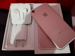 Iphone 7 Ouro Rose 32gb ótimo estado aceito cartão