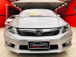 Honda Civic 2014 lxr automático + kit multimídia, carro impecável !!! - 2014
