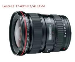 Lente Canon 17-40mm EF L + Flash Canon 580EX II