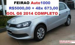 Gol 1.0 G6 Completo 2014. R$5000,00 + 48x 673,00 - 2014