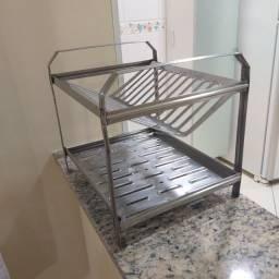 Escorredor em inox 12 pratos