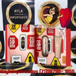 Kit Carolina Herrera 212 Vip Rosé EPD - Perfume + Hidratante - Selo Adipec -NF