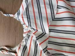Conjunto de blusa cigana com bermuda
