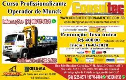 Curso para Operador de Munck de R$ 400,00 Inicio dia 16-03-2020