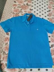 Camiseta Dudalina azul Tam. M