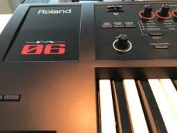 Workstation teclado sintetizador Roland FA-06 (menos de um mês de uso)