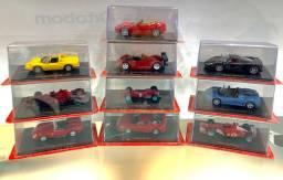 Coleção Miniaturas Ferrari - 10 Carrinhos 1:43