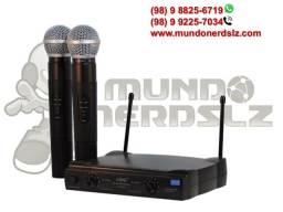 Microfone Sem Fio Duplo Uhf Wireless 110/220 Vts Lelong Le-906 em São Luís Ma