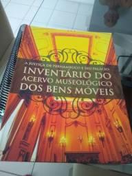 Livro do acervo Museologico dos bens móveis do palácio do governo