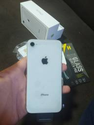 iPhone 8 White 64 GB Novo 100%