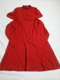 Vestido da grife Carmem Venzons vermelho novo.