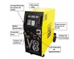 Máquina de solda mig 250 amperes nova de fabrica com tocha a preço de custo é aqui