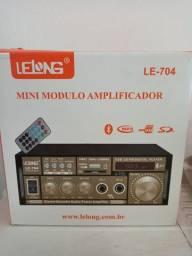 Mini Amplificador com Bluetooth