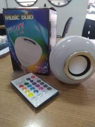 Lâmpada de LED caixinha de som adaptada