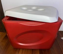 Caixa térmica invicta 45litros vermelha