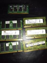 Memórias ram para notebook DDR2 e DDR3