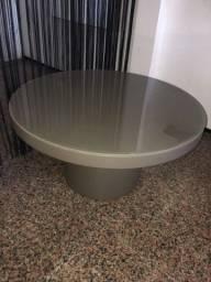 Título do anúncio: Mesa de centro redonda com tampo vidro graffite