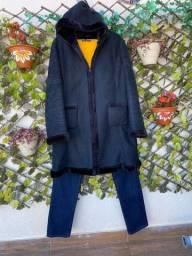 Casaco lã sintética