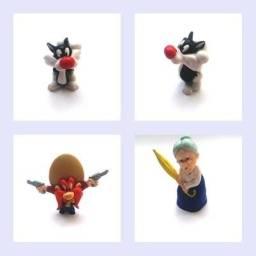 Bonecos Pernalonga, Frajola, - Looney Tunes - 11 Personagens R$ 170,00