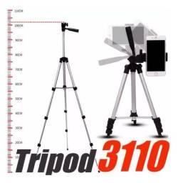 Título do anúncio: Tripe 1,05m Tripod 3110 + Adaptador para Celular_vd18