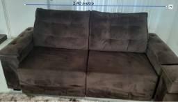 sofá retrátil e reclinável 2 40m