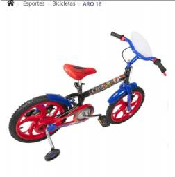 Bicicleta infantil homem aranha