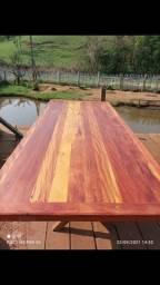 Título do anúncio: Mesa com Bancos madeira demolição a pronta entrega medidas 2x90