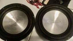 Subwoofer 12 polegadas metalizado kit com 2