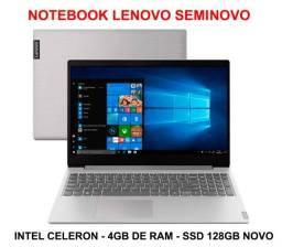 Notebook Lenovo Ideapad S145-15IGM Intel Celeron 4gb SSD 128GB (novo) + Beinde