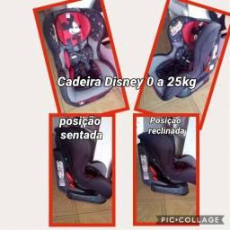Cadeira Carro Mickey Mouse serve de 0 a 25kg base reclinável 3 níveis